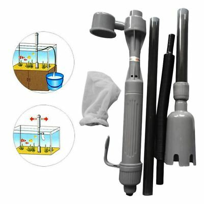 Aquarium Auto Electric Battery Syphon Siphon Fish Tank Vacuum Gravel Cleaner Was