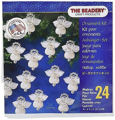 Beadery Various Holiday Beaded Ornament Kit Littlest Angels 1.125-inch Makes 24