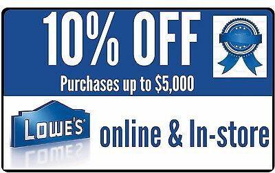 Two(2x) Lowes 10% Off Coupon Promotion (Online Only) Exp 9/30 - FAST Delvry