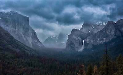 WALL MURAL PHOTO WALLPAPER XXL Mountains Storm Peaks Foothill View Mist (1X-1294