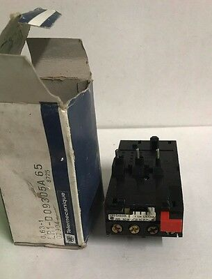 Telemecanique 0.63 1 Amp Thermal Overload Relay Lr1 D09305A65