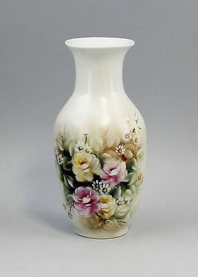 Porcelain Small Vase Flower painting signed Silvana hand painted 99840228