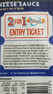 2 for 1 Entry Ticket for Thorpe Park Resort