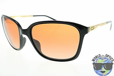 Oakley Women's Sunglasses OO9291-04 GAME CHANGER Polished Black w/VR50 Brown