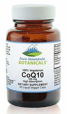 Coq10 100mg - 60 Vegetarian Capsules Now with Highly Bioavailable Coenzyme Q10