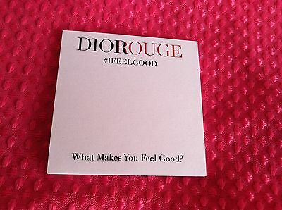 "Lot of 150 Dior Rouge #IFEELGOOD Sticky Notes 3""H x 3""W"