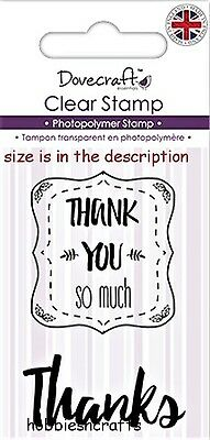 Dovecraft Small Clear Cling Stamps - Dcstp077 - Sentiments - Thank You