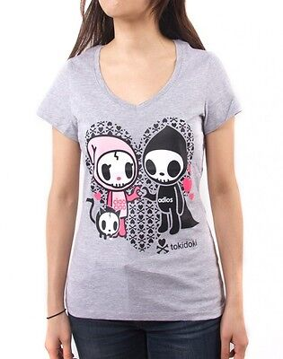 NEW Tokidoki I Heart You Women's Heathered Grey Tee T-Shirt WBTE07102 US Seller