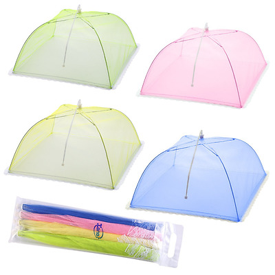 Mesh Screen Food Cover Tents - Set of 4 Umbrella Screens to Keep Bugs And Flies