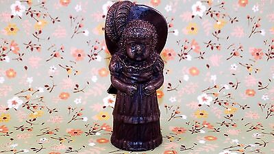 Antique Victorian, Lead / Spelter, Little Girl Figure, ca 1800's - Free Shipping