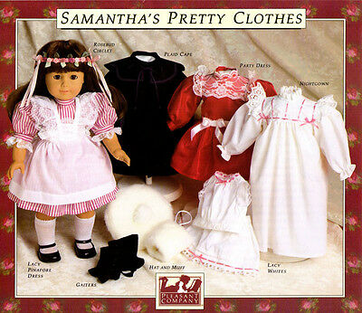 AMERICAN GIRL PLEASANT Company Vintage Samantha Clothes Sewing Extraordinary American Girl Patterns