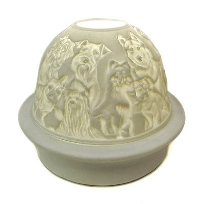 Dreamerzzz... A World of Dogs LED Lighted Porcelain Table Top Dome Night Light