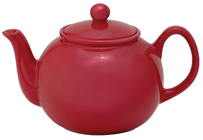 HIC Brands 32-Ounce Transitionals Ceramic Teapot with Stainless Steel Infuser, R