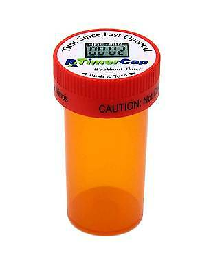 RX Timer Cap® - Pill Organizer & Reminder for Medications, 2 oz. vials, 2 pack