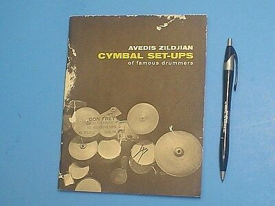 1958 Avedis Zildjian Cymbol Set-Ups Of Famous Drummers Catalog 40 Pages