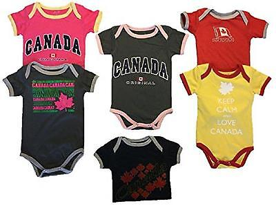 Baby Toddler Plain 100% Cotton Canada Themed (Girls 3-6 Months)
