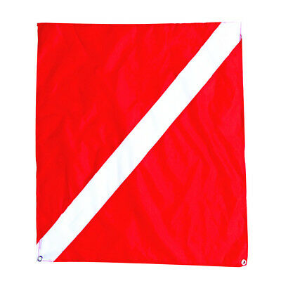 500mmx600mm Large Scuba Diving Dive Boat Charter Diver Down Flag Red White