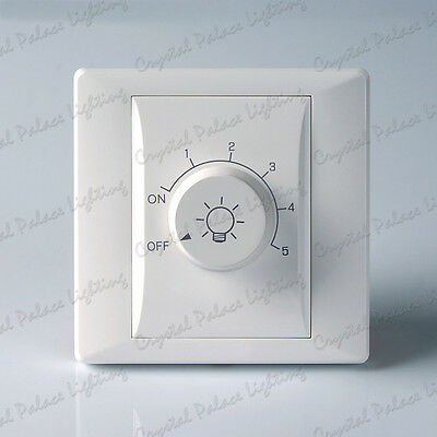 1 GANG WHITE TRAILING EDGE LED Compatible DIMMER SWITCH 800 Watt