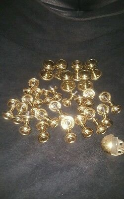 Heavy Duty Solid Brass Cupboard And Drawer Knobs / Pulls 6 + 19 + Door Stop