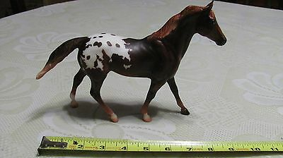 Beautiful Dark Brown Spotted Pony Breyer Model 611 Chesnut Appaloosa Ruffian EUC