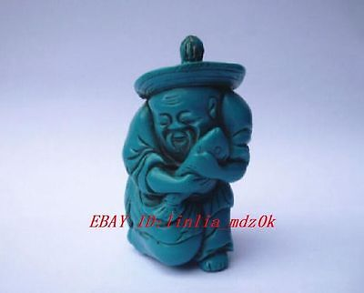 Rare Collectable turquoise fisherman perfume snuff Bottles