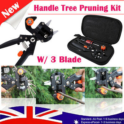 Garden Fruit Tree Pruning Shears Scissor Grafting Cutting Tool KIT+ 3 Blade +Bag