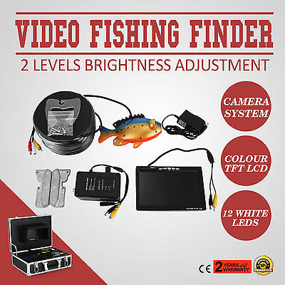 60m 7 LCD Fish Finder Screen Underwater Fishing Video System 250cd/m2 NTSC