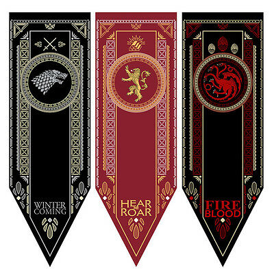 Poster Print Game of Thrones House Stark Tournament Banner Flag Hanging Home
