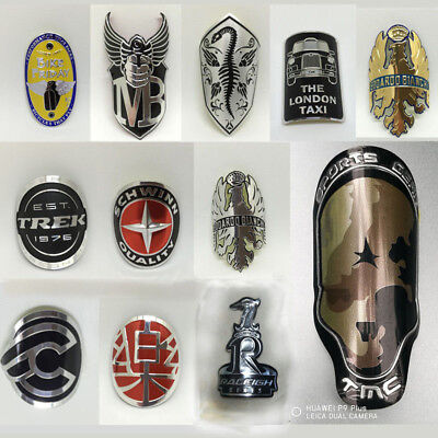 Bicycle Bike BMX Fixed Gear Tube Frame Alloy Head Badge Decals Stickers