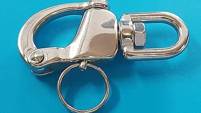 "SHACKLES - SWIVEL SNAP SHACKLE 316 S/STEEL - 70mm 2 3/4"" - BOAT - YACHT -"