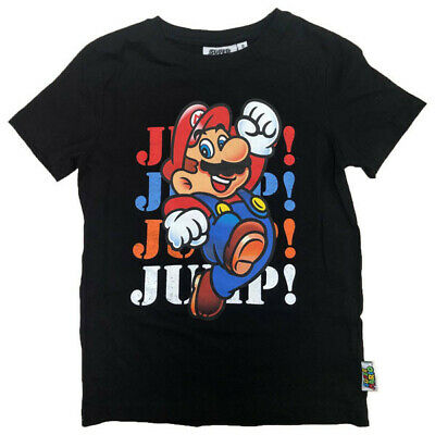 Boys Kids Children Super Mario Short Long Sleeve Tee T Shirt Top age 4-10 years