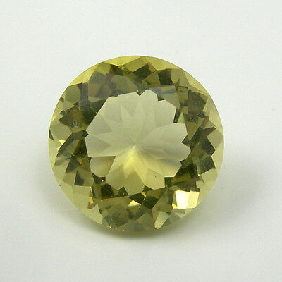 6.77 carat 12.73mm Round Yellow Color Natural Citrine Gemstone Loose
