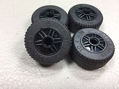 New LEGO Black Wheels 18mm x 14mm Lot of 4 Authentic 30.4x14 Tires VR Solid