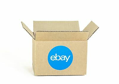 "New! eBay-Branded Boxes With Blue 2-Color Logo 6"" x 4"" x 4"""
