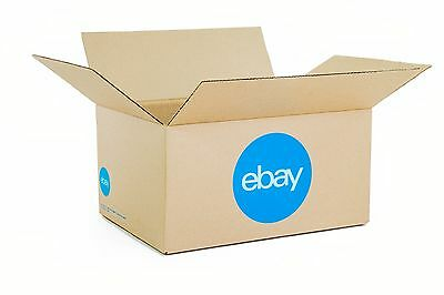 """New! eBay-Branded Boxes With Blue 2-Color Logo 16"""" x 12"""" x 8"""""""