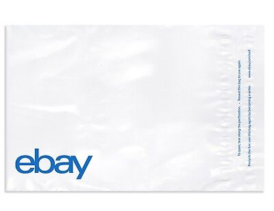"eBay-Branded Polymailer With Blue Print 12"" x 15"" (No Padding)"
