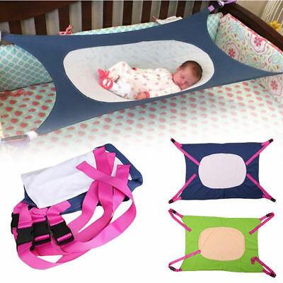 Elastic Healthy Newborn Baby Hammock Infant Bed Baby Crib Detachable Portable AU