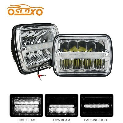 SLDX 5 x 7 Inch (One Pair) Led Headlights Hi/Low Beam With Parking Light