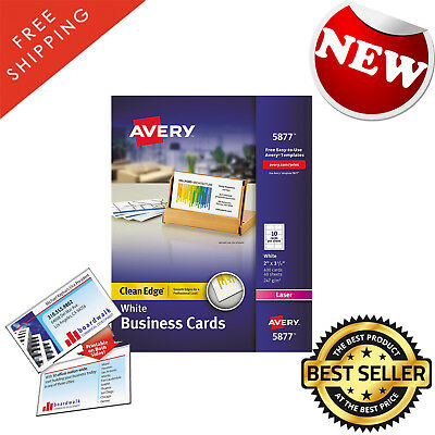 Business cards avery clean edge laser white heavyweight card business cards avery clean edge laser white heavyweight card stock 400 cards colourmoves