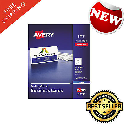 Business cards avery clean edge laser white heavyweight card business cards avery perforated inkjet white heavyweight card stock 1000 cards colourmoves