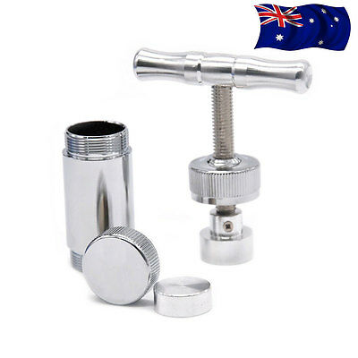 Heavy Duty Aircraft Grade Aluminum Metal Pollen Press T Design Gadget Bar