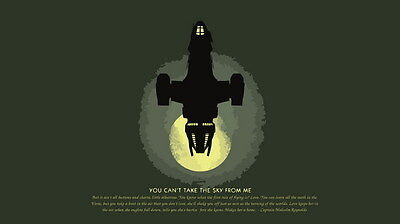 """046 Firefly - Serenity Fihgt Space USA Classic TV 42""""x24"""" Poster"""
