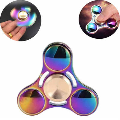 Fingertip Gyro Tri Fidget Hand Finger Spinner Toy For Anti Stress Autism ADHD