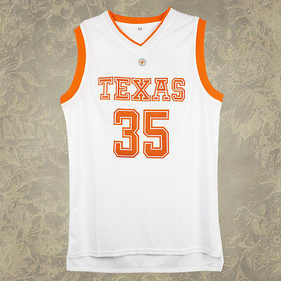 Texas Longhorns #35 Kevin Durant Burnt White Basketball Jersey