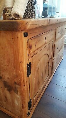 sideboard victorian stripped pine old rustic farmhouse.Tv cabinet ?