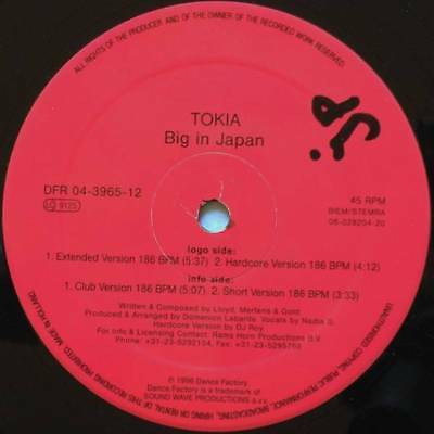 "12"": Tokia - Big In Japan - Dance Factory - DFR 04-3965-12"