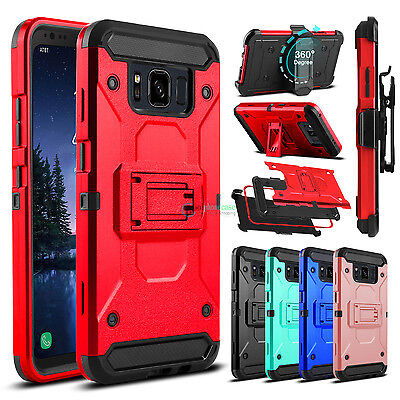 Shockproof Hard Armor Kickstand Holster Case Cover for Samsung Galaxy S8 Active