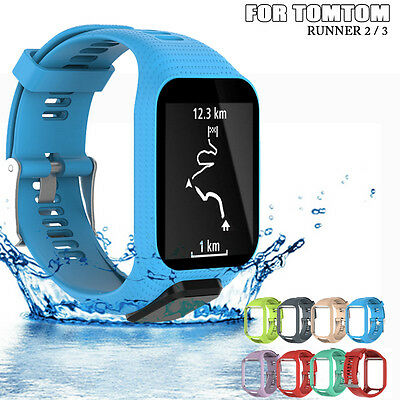 Replacement Soft Silicone Band Strap For TomTom Runner 2 / 3 Sport GPS Watch