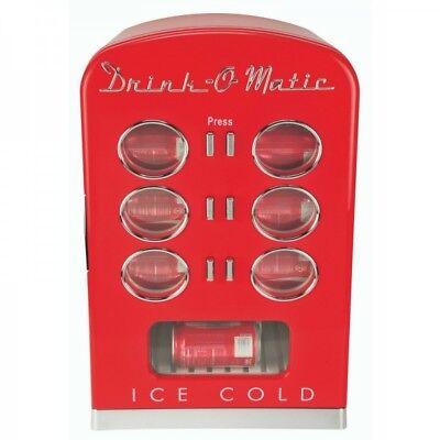 Retro Drinks Refrigerator Can Cooler Minibar MCL5 Red (Box Defect) 32141