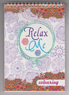 Adult Colouring Relax Me 100 Designs Book #3 New